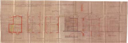 Villa Mamy, avenue de la Poésie 17, Anderlecht, élévations, coupe, plans, ACA/Urb. 26467, 1934