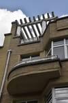 Avenue des Croix du Feu 303, Bruxelles Laeken, balcon et pergola (© ARCHistory/APEB, photo 2020)