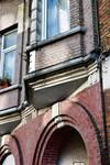 Rue de Moorslede 148, Bruxelles Laeken, détail de la logette droite (photo ARCHistory/APEB © urban.brussels, photo 2016)