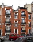 Rue Edmond Tollenaere 98 et 100, Bruxelles Laeken, élévations principales (photo ARCHistory/APEB © urban.brussels, photo 2017)