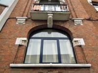 Rue Émile Delva 43, Bruxelles Laeken, détail de l'élévation principale (© C. Dubois, photo 2019)