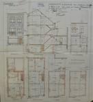 Rue Léopold Ier 246, Bruxelles Laeken, élévations, coupe, plans, AVB/TP 52133, 1926