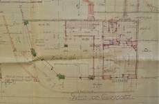 Rue Léopold Ier 248 | Rue Edmond Tollenaere 117, Bruxelles Laeken, plan du rez-de-chaussée, AVB/TP 71527, 1932