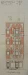 Square des Combattants 9, Bruxelles Laeken, élévation principale, AVB/TP 54209, 1926