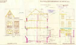 Rue Josse De Boeck 10, Jette, élévations, coupe, ACJette/Urb. 4981, 1927