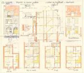 Rue Louis Socquet 53, Schaerbeek, élévations, coupe, plans, ACS/Urb. 178/53, 1931