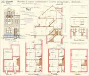 Rue Louis Socquet 53, Schaerbeek, élévations, coupe, plans, ACS/Urb. 178/59, 1931