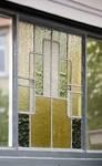 Avenue Milcamps 152, Schaerbeek, vitrail d'imposte au rez-de-chaussée (© ARCHistory/APEB, photo 2020)