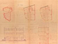 Avenue Coghen 44, Uccle, plans, élévation principale, coupe, ACU/Urb. 8109, 1934