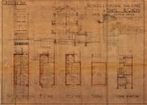 Avenue Coghen 61, Uccle, élévation, coupe, plans, ACU/Urb. 9529, 1936