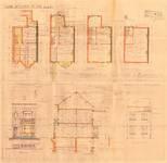 Avenue Coghen 166, Uccle, élévations, coupe, plans, ACU/Urb. 8344, 1934