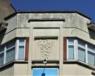 Rue Meyerbeer 163   Chaussée d'Alsemberg 374, Uccle, détail façade (© C. Dubois, photo 2020)