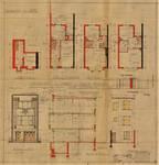 Rue Gabrielle 106, Uccle, élévations, coupe, plans, ACU/Urb. 8159, 1934