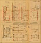 Rue Gabrielle 108, Uccle, élévations, coupe, plans, ACU/Urb. 8118, 1934