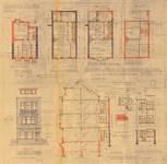 Rue de la Seconde Reine 3, Uccle, élévations, coupe, plans, ACU.Urb. 8078, 1933
