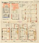 Rue des Glaïeuls 56, Uccle, élévations, coupe, plans, ACU/Urb. 6544, 1931