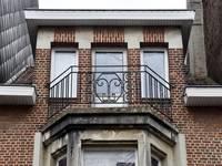 Rue des Glaïeuls 29, Uccle, balcon deuxième étage (© ARCHistory/APEB, photo 2020)
