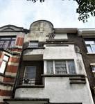 Avenue Gounod 38A, Anderlecht, partie supérieure de la façade (© C. Dubois, photo 2020)
