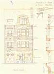 Rue Portaels 42-44, Schaerbeek, élévation principale, ACS/Urb. 216/42, 1926
