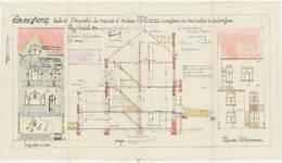 Avenue Jean Vanhaelen 20, Auderghem, élévations et coupe, ACAud./Urb. 3339, 1931