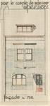 Avenue Jean Vanhaelen 40, Auderghem, élévation principale, ACAud./Urb. 3399, 1931