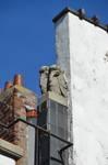 Avenue des Croix du Feu 301, Bruxelles Laeken, couronnement de la façade, détail (© ARCHistory/APEB, photo 2020)