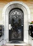 Avenue des Croix du Feu 303, Bruxelles Laeken, porte d'entrée (© ARCHistory/APEB, photo 2020)