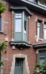 Rue du Cloître 71, Bruxelles Laeken, travée d'entrée (© ARCHistory/APEB, photo 2020)