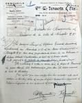 Rue Edmond Tollenaere 113, Bruxelles Laeken, lettre de demande des commanditaires (les frères François et Alphonse Tenaerts) à la Ville de Bruxelles pour la construction d'un immeuble, AVB/TP 53773, 1923