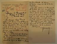 Rue Léopold Ier 178-180, Bruxelles Laeken, lettre de demande du commanditaire et architecte (Louis Tenaerts) à la Ville de Bruxelles pour la construction d'un garage pour 26 voitures avec habitations à l'étage, AVB/TP 53078, 1925