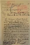 Rue Léopold Ier 246, Bruxelles Laeken, lettre de demande du commanditaire (Joseph Tenaerts) à la Ville de Bruxelles pour la construction d'une maison à deux étages, AVB/TP 52133, 1926