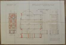 Square des Combattants 9, Bruxelles Laeken, élévations et coupe, AVB/TP 54209, 1926