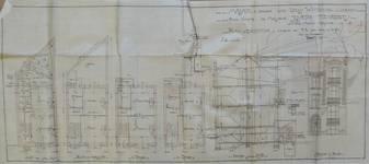 Rue Louis Wittouck 45, Bruxelles Laeken, plans, coupe, élévation principale, AVB/TP 49840, 1923