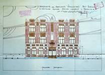 Square Prince Léopold 47, Bruxelles Laeken, élévation principale, AVB/TP 38790 , 1928