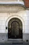 Rue de Praetere 26, Ixelles, entrée (© ARCHistory/APEB, photo 2020)
