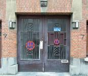 Rue Steppé 7, Jette, entrée de l'atelier (© C. Dubois, photo 2019)