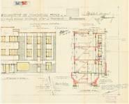 Smaragdlaan 2 | Milcampslaan 195, Schaarbeek, opstand, doorsnede, GAS/DS 75-2, 1933