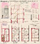 Avenue Léon Mahillon 129, Schaerbeek, élévations, coupe, plans, ACS/Urb. 168/129, 1932