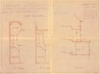 Avenue Milcamps 197, Schaerbeek, modification plans étages et coupe, ACS/Urb. 194/197, 1933