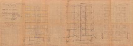 Avenue Coghen 160, Uccle, élévations, coupe, ACU/URB. 11416, 1939