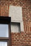 Rue des Cottages 55, Uccle, détail façade (© ARCHistory/APEB, photo 2020)