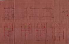 Square du Castel Fleuri 15, Watermael-Boitsfort, élévations, coupe, plans, AUWB/ PU.9271, 1935