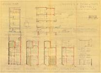 Rue Ernest Gossart 42, Uccle, élévations, coupe, plans, ACU/Urb. 10005, 1936