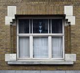 Rue de la Seconde Reine 37, Uccle, fenêtre rez-de-chaussée (© ARCHistory/APEB, photo 2020)