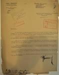 Rue Léopold Ier 248 | Rue Edmond Tollenaere 117, Bruxelles Laeken, lettre de demande du commanditaire et architecte (Louis Tenaerts) à la Ville de Bruxelles pour la construction d'un immeuble, AVB/TP 71527, 1932