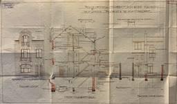 Rue Louis Wittouck 11, Bruxelles Laeken, élévations et coupe, AVB/TP 54072, 1926
