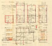 Rue des Carmélites 56, Uccle, élévations, coupe, plans, ACU/Urb. 7937, 1933