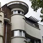 Avenue Coghen 40, Uccle, détail de la façade (© ARCHistory/APEB, photo 2020)