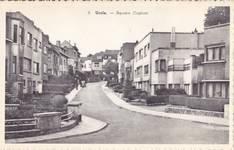 Coghensquare, oude perspectief met in de achtergrond nummer 17A (© Verzameling postkaarten Brussels Art Deco Society)