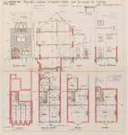 Avenue de Messidor 74, Uccle, élévations, coupe, plans, ACU/Urb. 6227, 1931